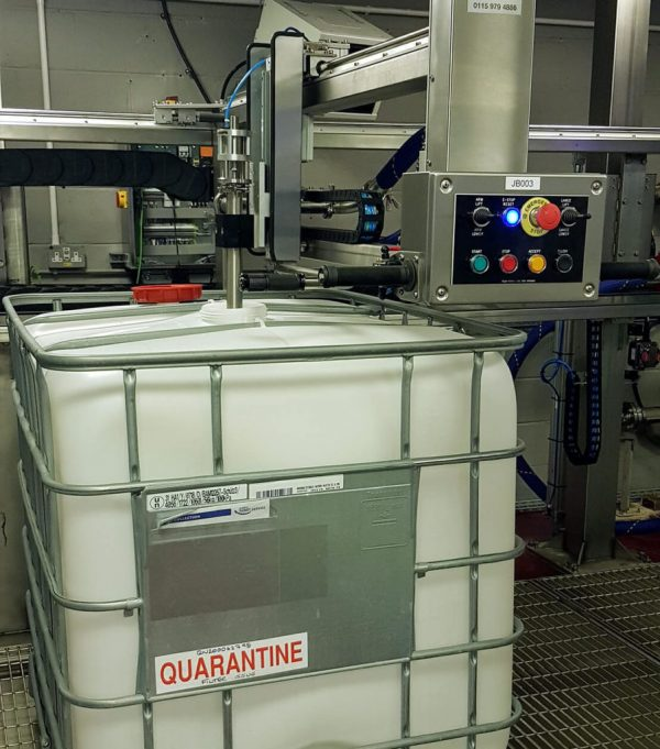 The FT-200 Automatic IBC Filling System for Chemicals