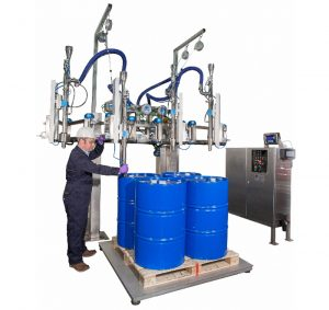 The FT-400 Filling System for multiple drums or IBC's